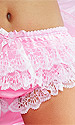 Shimmering Pansy Sissy Panties