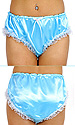 Tabitha Blue Satin Panties with Lace