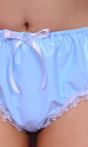 Tabitha PVC Panties with Lace