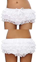 Vanessa Lace Covered White Satin Panties