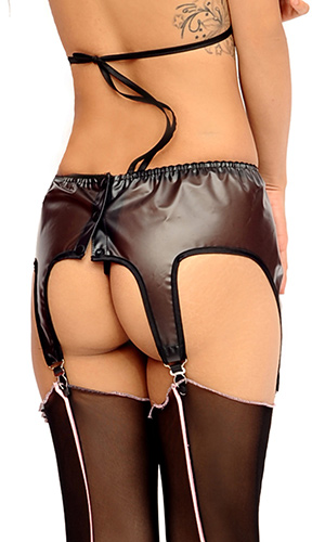 Chrissy Plastic Suspender Belt