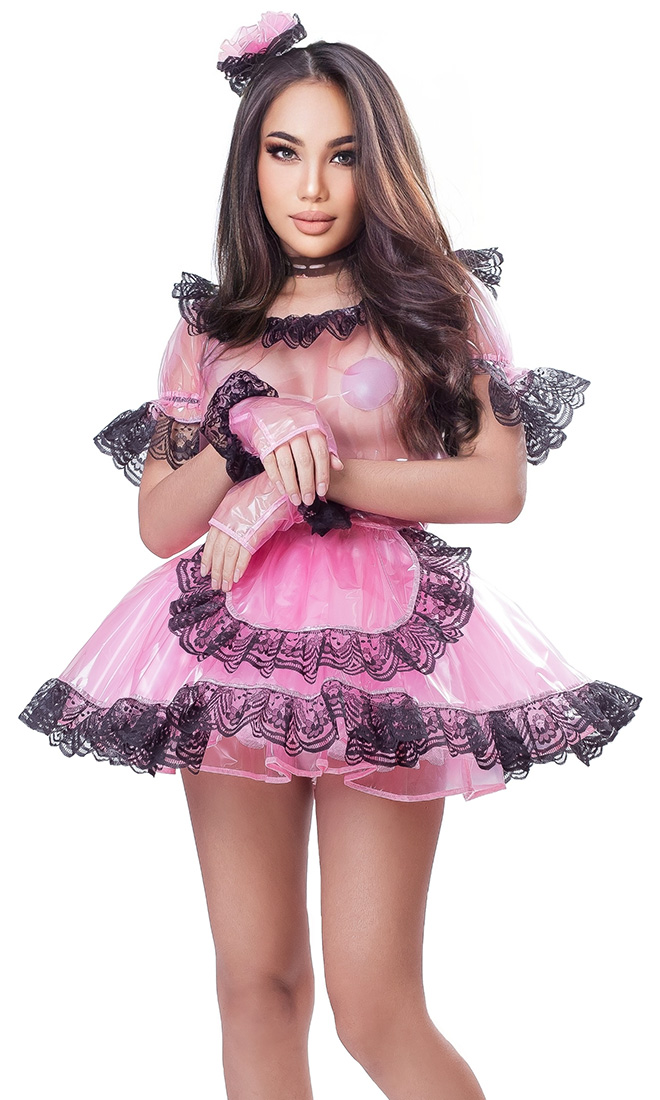 SlipperyPlastic French Maid Uniform