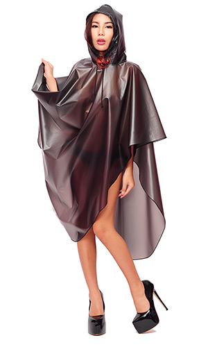 Plastic Poncho with Hood