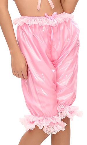 Long Plastic and Satin Bloomers
