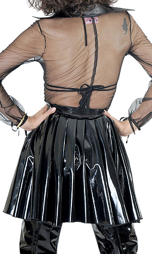 Eva PVC Long Pleated Skirt