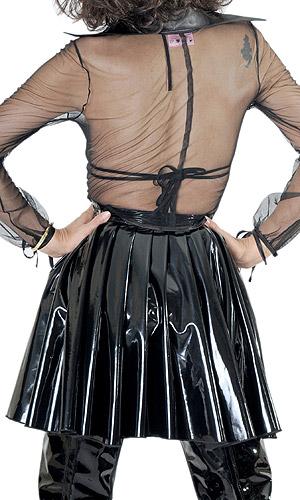 pvc pleated skirt