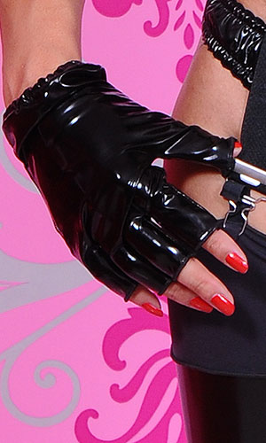 Fingerless short PVC Gloves