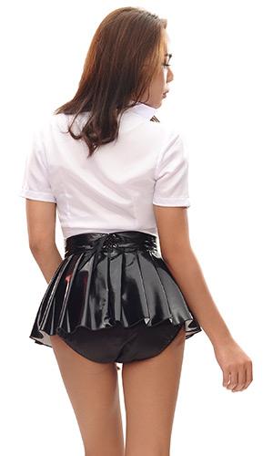 pasha pvc pleated mini skirt pasha pvc pleated mini skirt
