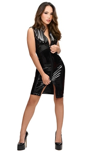 PVC Zipper Dress