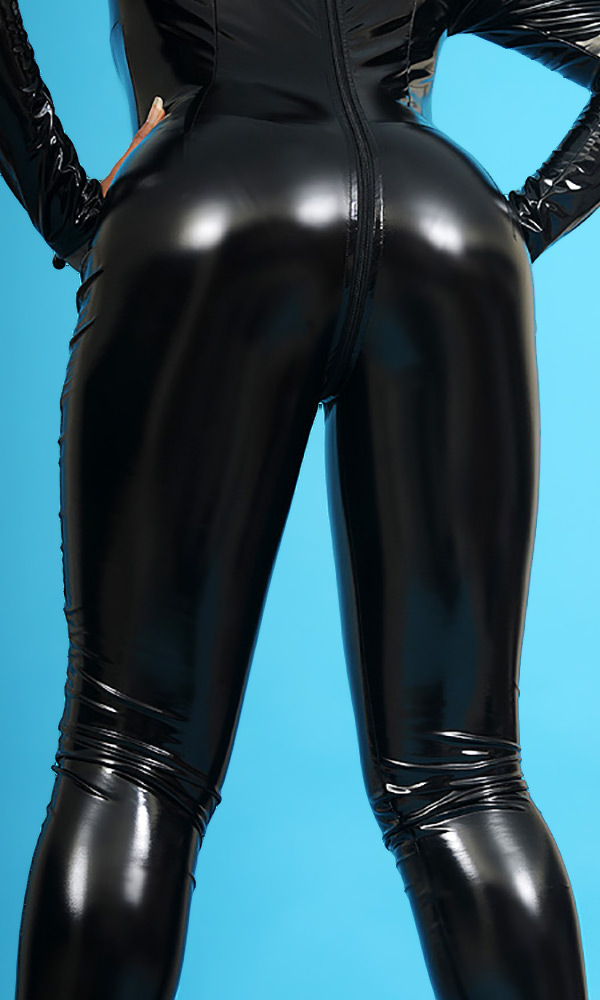 Luxury Collarless PVC Catsuit