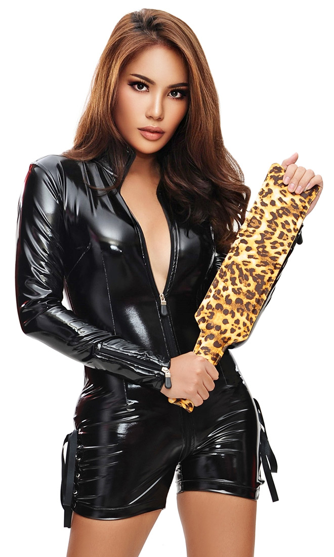 Shorts-style Luxury PVC Catsuit