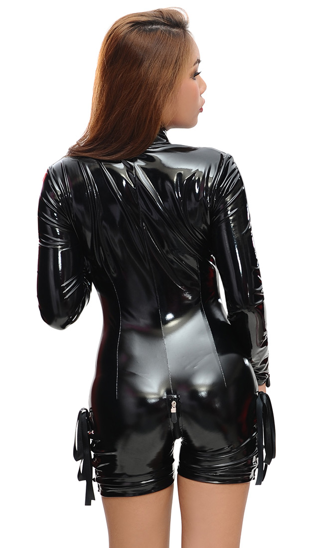Shorts Style Luxury Pvc Catsuit