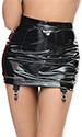 PVC Mini Skirt with 4 Wide Clips