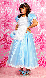 Alice-in-Wonderland Long PVC Dress