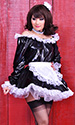 PVC French Maid with long sleeves