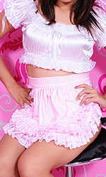 Large PVC Maids Pinafore