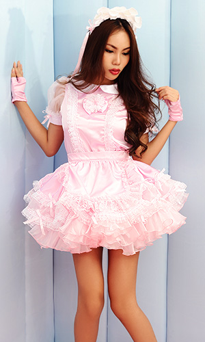 Mannie Satin Sissy Dress