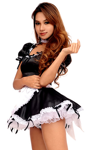 Agustina Satin French Maid