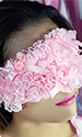 Sissy Frilly Eye Mask