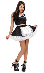 Jally Satin French Maid
