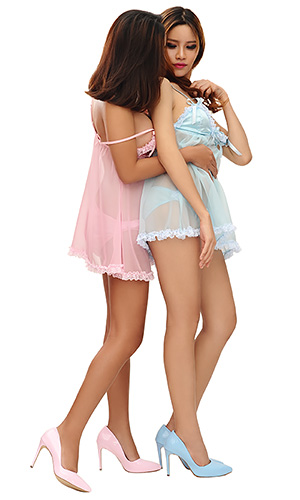 Debby Satin and Lace Babydoll