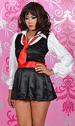 Traditional Pleated School Girl