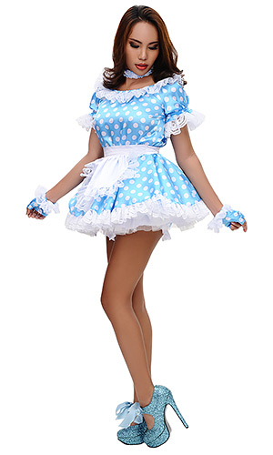 Polka Dot Satin French Maid Uniform