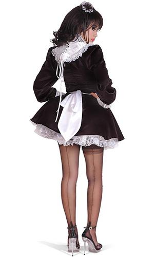Satin Ruffle Maid Ruffled Satin Housemaid