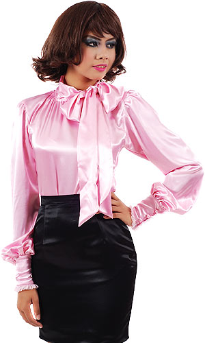 Red Bow Tie Blouse