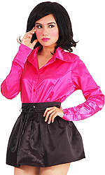 Satin Puff Skirt