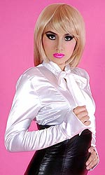 Satin Sabrina Bow Blouse