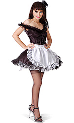Monique Luxury Satin French Maid