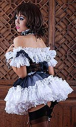 Gia Glass-silk and Lace French Maid