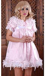 Satin Puff Baby Dress