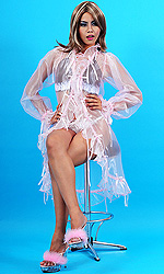 Sheer Ribbons Peignoir