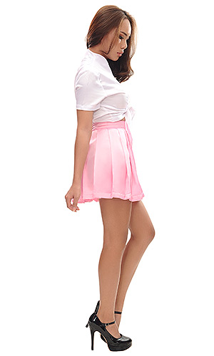 Satin Pleated Party Skirt