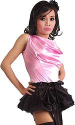 Satin Bow Skirt