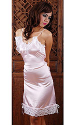 Saskia Satin and Lace Slip