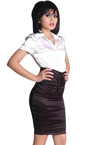 high waist corset skirt