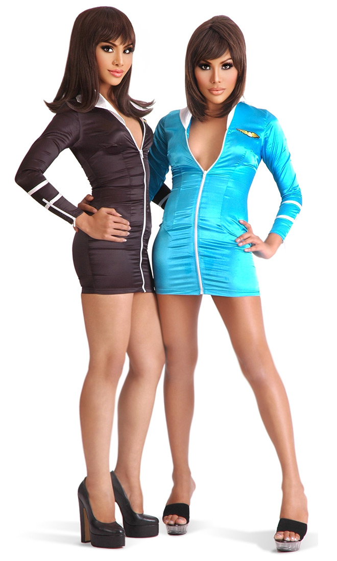 Air Hostess Mini Dress