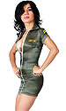 Satin Army Cadet Mini Dress