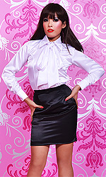 Satin Totty Bow Blouse