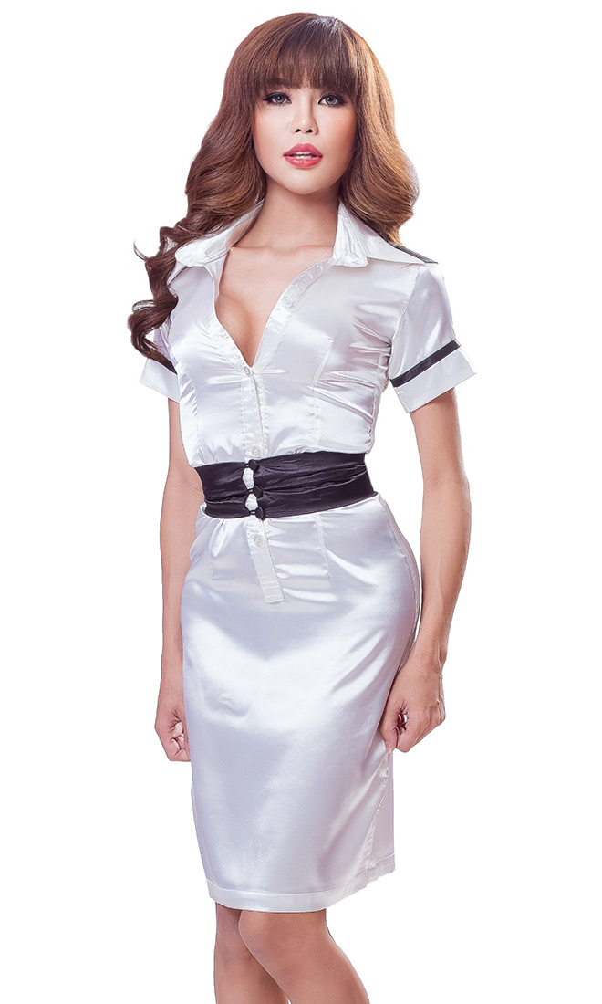 Satin Matron Nurse Uniform
