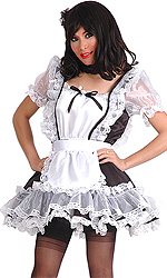 Luxury Frilly Satin Sissy Maid