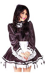 Satin Serving Maid