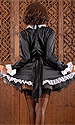 Satin French Maid (long sleeves, high neck)
