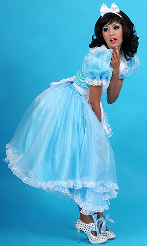 Alice in Wonderland Long Sissy Dress