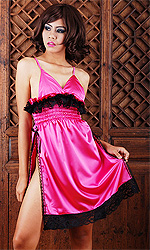 Yvette Satin Slip with side split