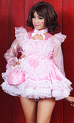 Shimmering Pansy Sissy Dress