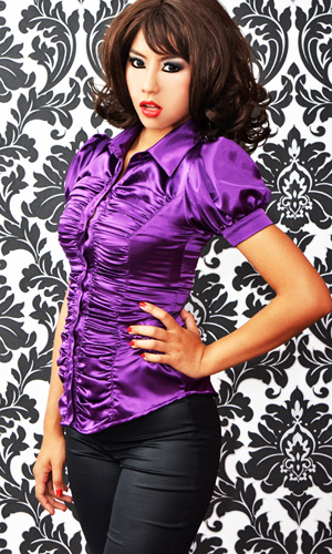 Satin Ripple Blouse